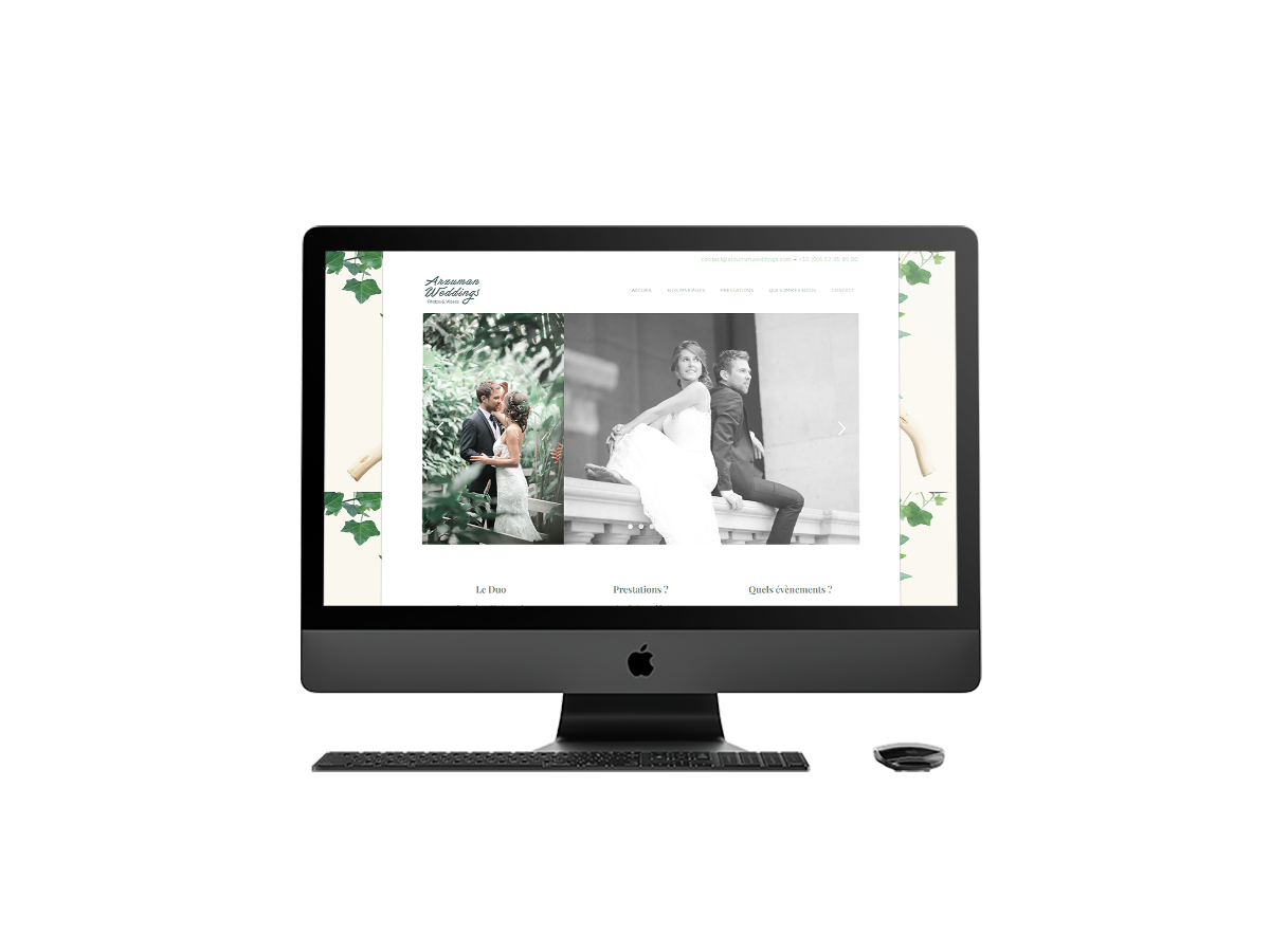 Refonte site web Arzuman Weddings sur iMac - Laurent Forbault - Webmaster Freelance Paris