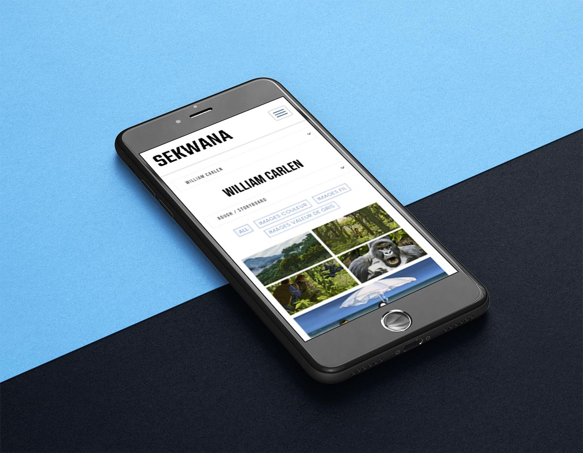 Refonte site web sekwana sur iPhone - Laurent Forbault - Webmaster Freelance Paris